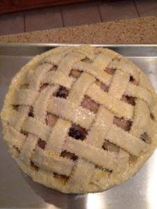 The pie before baking
