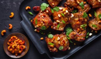 Grilled Chicken with Spicy Cashews