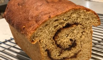 Oatmeal-Whole Wheat Cinnamon Swirl Bread
